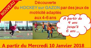 ACTIVITE Hockey sur GAZON pour les 4-6 Ans